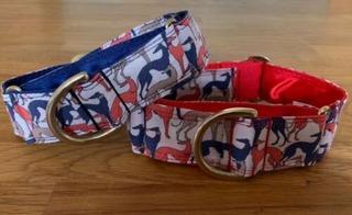 Red / Royal Blue Hound Collars - Norfolk Greyhound Rescue